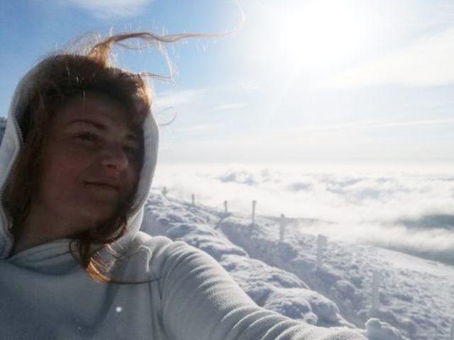 SUDECJANKA Olga Orlińska Szczyżowska- na szczycie Śnieżki