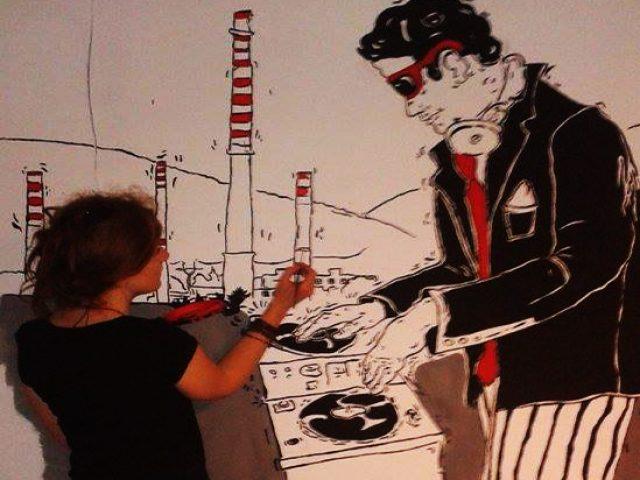 Sudecjanka Orlaprojekt Klub Kwadrat Jelenia Góra artystyczne malowanie ścian